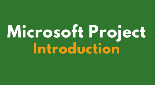 Microsoft Project Introduction Online Course