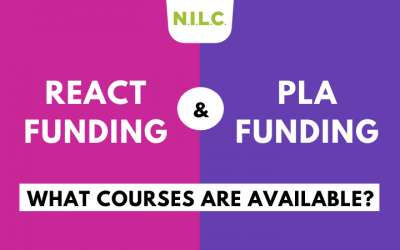 What courses are available through ReAct and PLA funding?